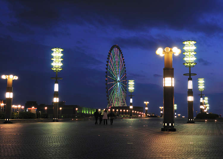 "A Magical Night Scene from Yume no Ohashi, the ""Big Bridge of Dreams"""