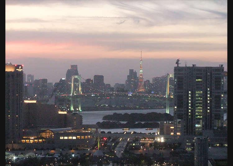 「テレコムセンター展望台」で見る東京