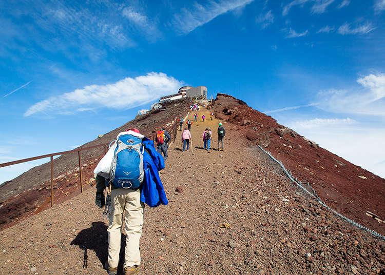 높고 날카로운 '겐가미네' 산봉우리를 제패한다