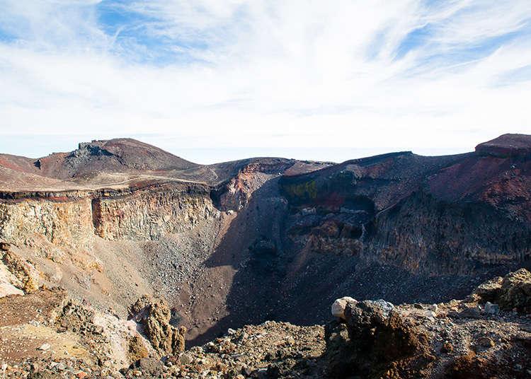 繞行山頂火山口