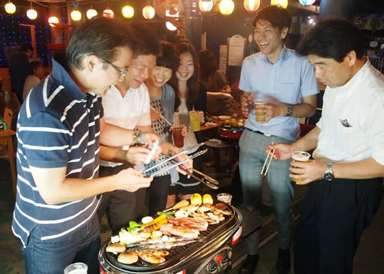 Barbecue & Beer at an Amusement Park