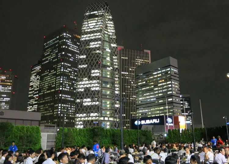 眺望西新宿高楼群的地点