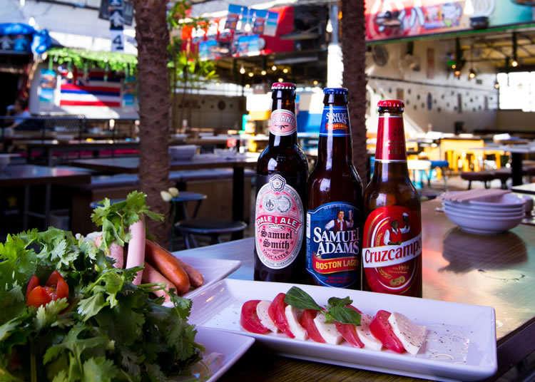 隨時提供30種類以上世界各地的啤酒!