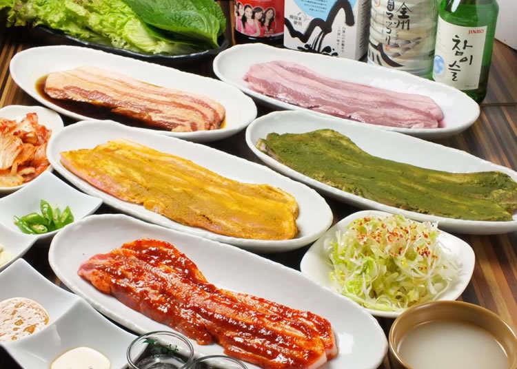 变化多样的韩式烤五花肉