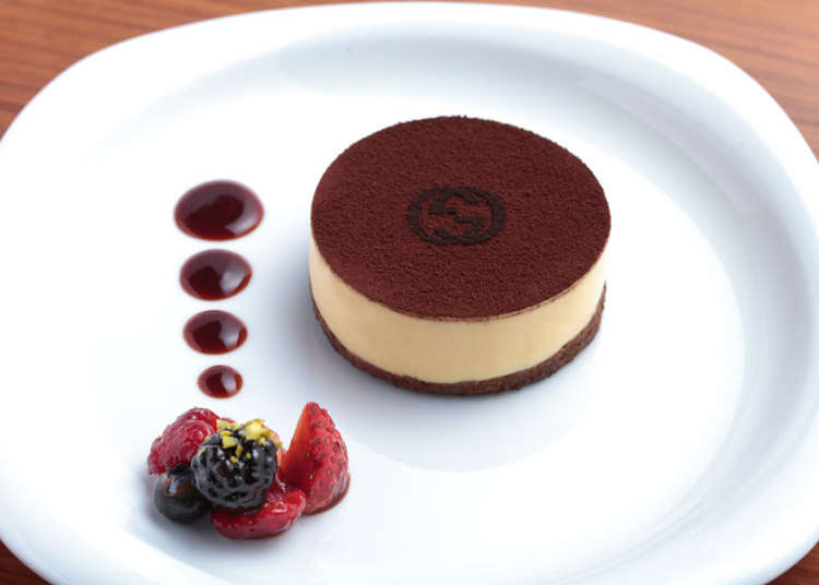 招牌甜点提拉米苏上也有双G Logo