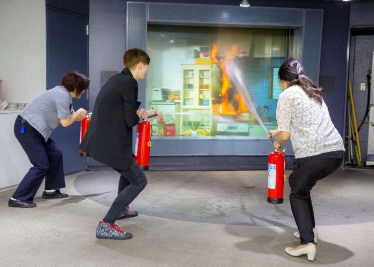'불이야!' 일본의 소방 체험