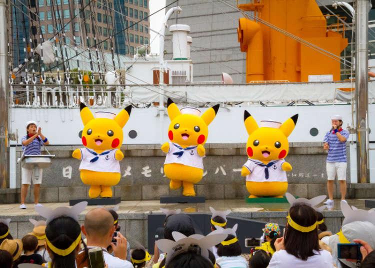 Captain Pikachu at the Nihonmaru Memorial Park