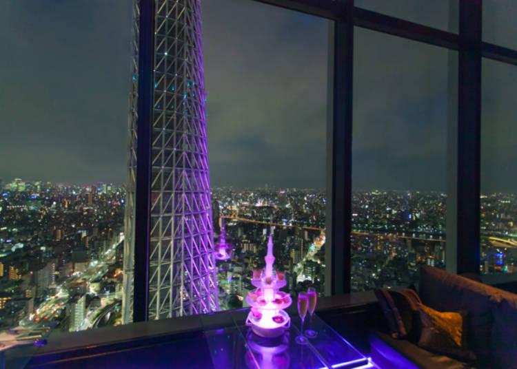 東京の夜景を独り占め