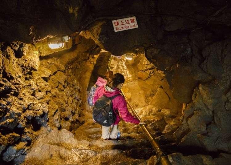 即使夏季也寒冷的熔岩洞窟
