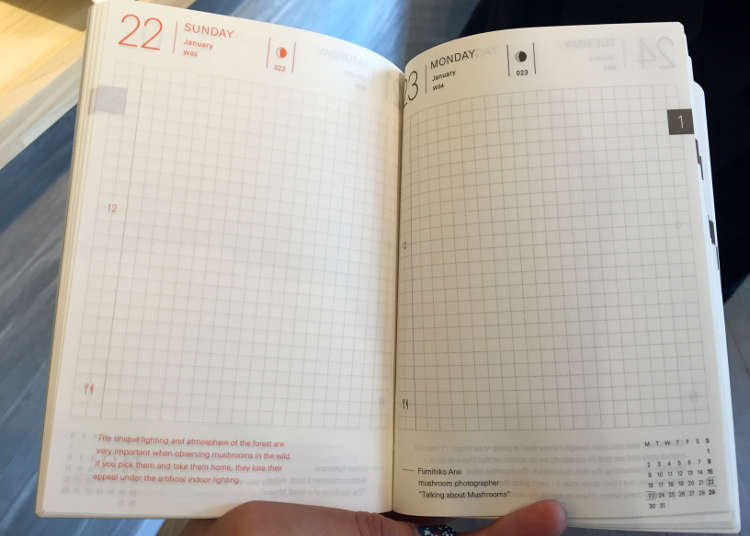 機能性を備えたほぼ日手帳