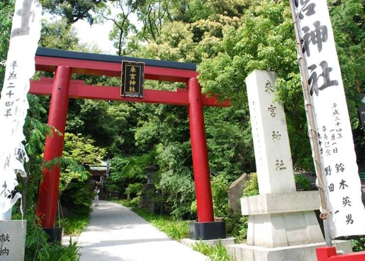 Spiritual places in Atami. A walking course around Kinomiya Shrine