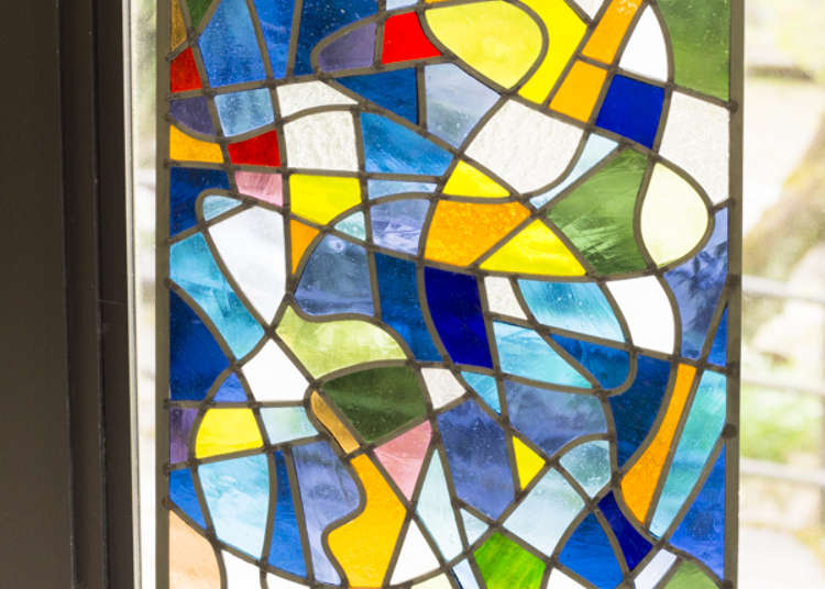 Adjacently located stained glass studio