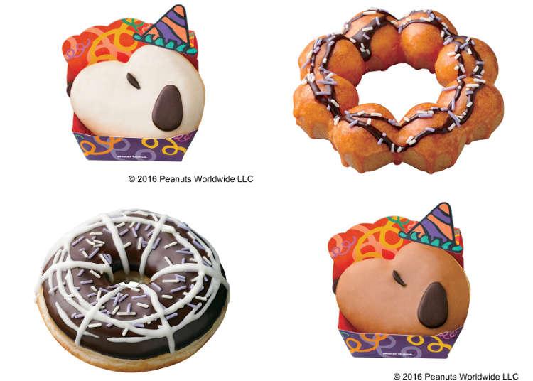萬聖節限定的史努比甜甜圈