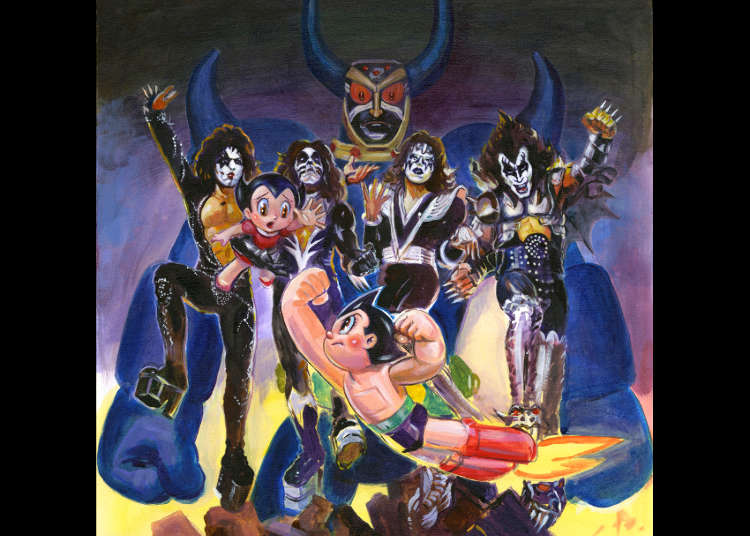 KISS and Astro Boy Collaboration: Classic Rock Meets Classic Anime in Harajuku