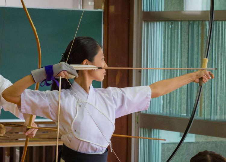 在东京体验日本弓道