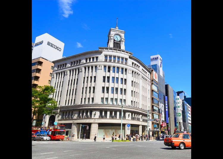 Daerah Ginza, Tokyo | Kawasan Sekitar Stesen Keretapi Ginza dan Maklumat Pelancongan