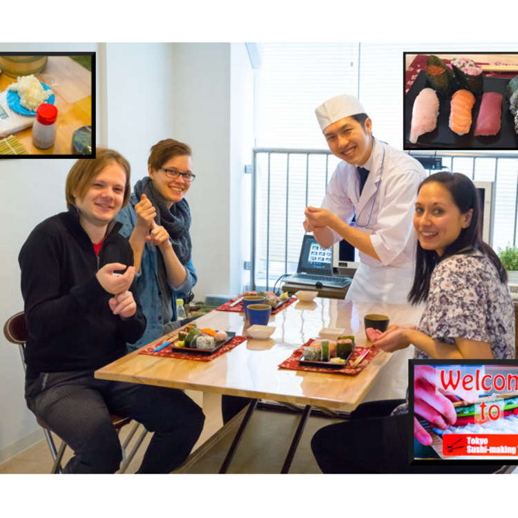 Learn, Make, and Eat with the Tokyo Sushi-Making Class!
