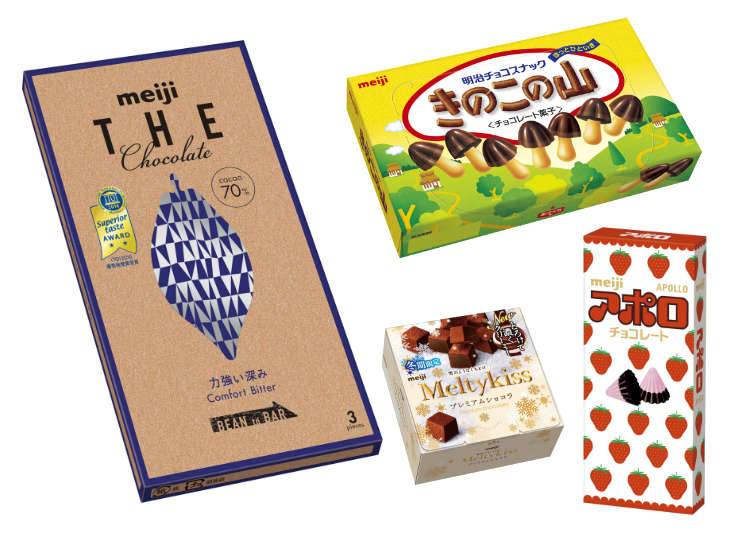 메이지가 편의점에 도전장! 기노코노야마와 아폴로 세대도 받아들일 수 있는 어른 초콜릿이 잘 팔리는 이유