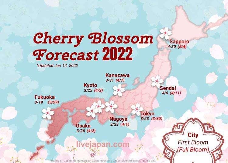 Japan's 2017 Cherry Blossom Forecast