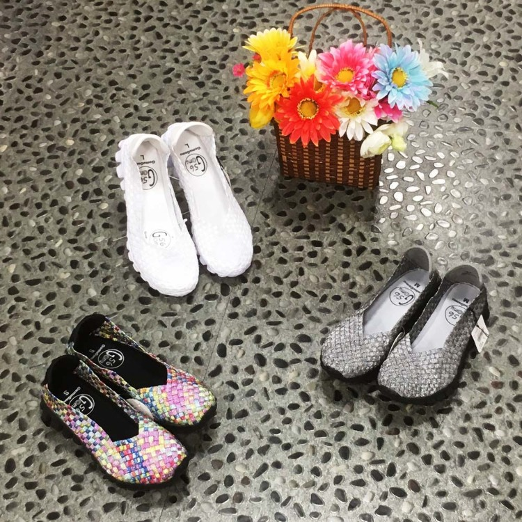 Casual mesh shoes with stretch material : More than anything, they are very light-weighted, and the stretch material allows the shoes to stretch during a walk, which makes them very comfortable. Also, the cushioning characteristic of their insoles and sol