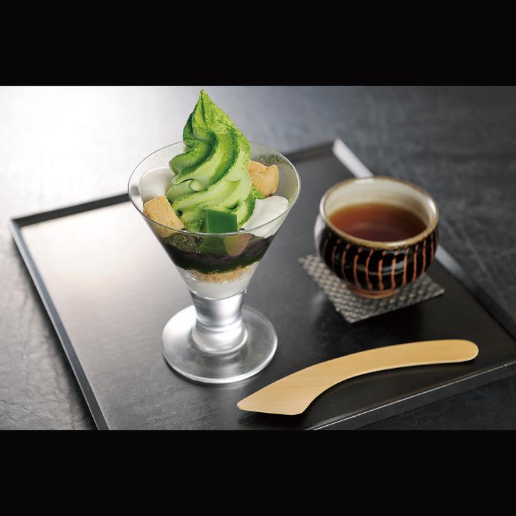 中嶋農法 抹茶パフェ ほうじ茶付き